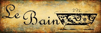 Le Bain Metal Sign, The Bath, French, Country Decor, Kitchen Decor ()