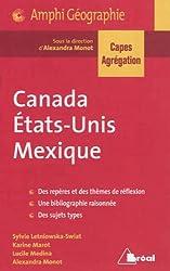 Canada, Etats-Unis, Mexique Capes Agreg 2013