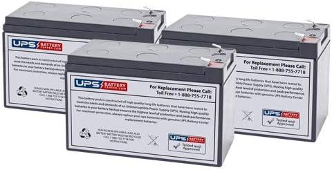 3 Set of Model # OMNISMART1400PNP by UPSBatteryCenter 12V 7.2Ah F2 Sealed Lead Acid Replacement Battery Set Tripp Lite OmniSmart 1400VA