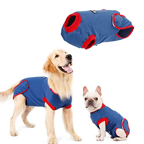 QBLEEV Dogs Recovery Suit for After Surgery, Alternative Dog E-Collars Bandages, Professional Surgical Pet Wear Shirt for Abdominal Wounds and Skin Diseases