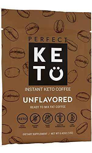 Perfect Keto Unflavored Instant Coffee: Ketogenic Fat Coffee