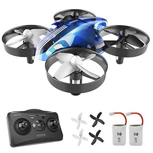 ATOYX Mini Drone, RC Drone 2.4G 4 Canales 6-Axis Gyro, Quadcopter con Modo sin Cabeza, Altitud Hold, Alarma de Batería y 3 Modos de Velocidad, Regalos y Juguetes, AT-66B(Azul) a buen precio