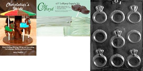 Cybrtrayd Engagement/Wedding Ring Wedding Chocolate Candy...