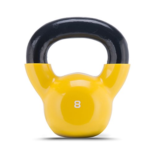 ZELUS Cast Iron Vinyl Coated Kettlebell