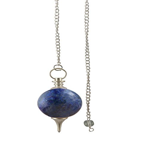 Aatm Natural Healing Lapis Lazuli Gemstone Round Pointed Reiki Chakra Ball Pendulum for Enlightenment (Lapis Lazuli Pendulum)