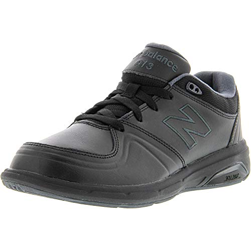 New Balance Women's WW813 Walking Shoe, Black, 7 B US (Leather Brandy Footwear)