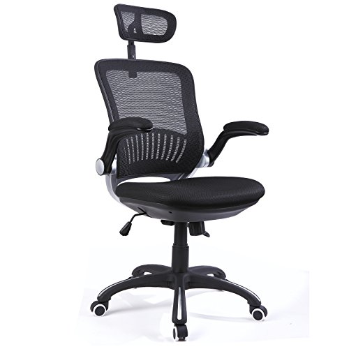 H&L Office High Back Mesh Multi-Functional Executive & Managerial Computer Desk Swivel Office Chair with Recliner, Adjustable Headrest and Flexible Arm Rest