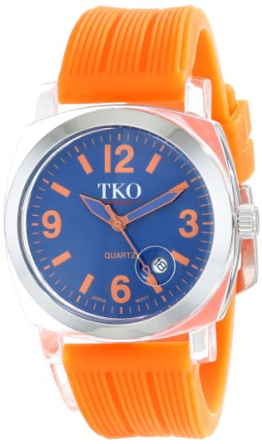 TKO ORLOGI Women's TK558-OR Milano Junior Acrylic Case Orange Dial Watch (Dial Orange Juniors)