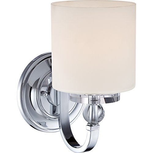 Quoizel DW8701C Downtown Glass Ball Wall Sconce, 1-Light, 100 Watts, Polished Chrome (11