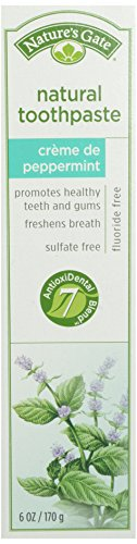 Natures Gate Tooth Paste Creme De Peppermint, 6 oz