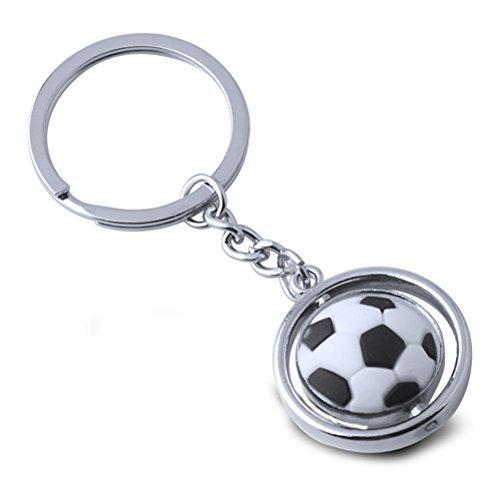 - TOYMYTOY Soccer Ball Keychain - Metal Rotating 3D Sports Keychain, Football Key Ring, Birthday Gift