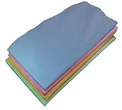 QWhing - Toallitas de limpieza de fibra para pantallas de carcasas, teclados, gafas,
