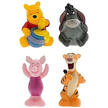 amazon com disney set of 4 winnie the pooh character squeeze toys