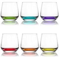 LAV Lal Renkli Tabanlı 6'lı Su Bardağı