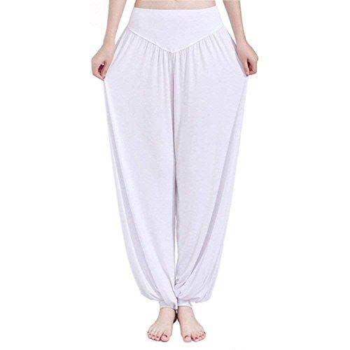 Cute Stile Yoga Taille Pantaloni Nahen Trousers Vita Estivi Bianca Multistrato Chic Harem Sportivi Tempo Primaverile Grazioso Libero Elastica Donna Modern Lunga Di Baggy 1AwE8qw