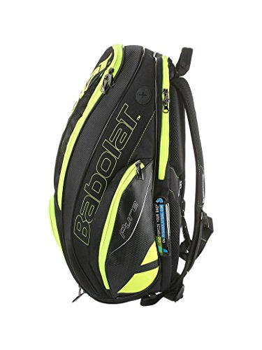 Babolat Pure Black/Fluo Yellow Backpack Bag by Babolat (Image #1)