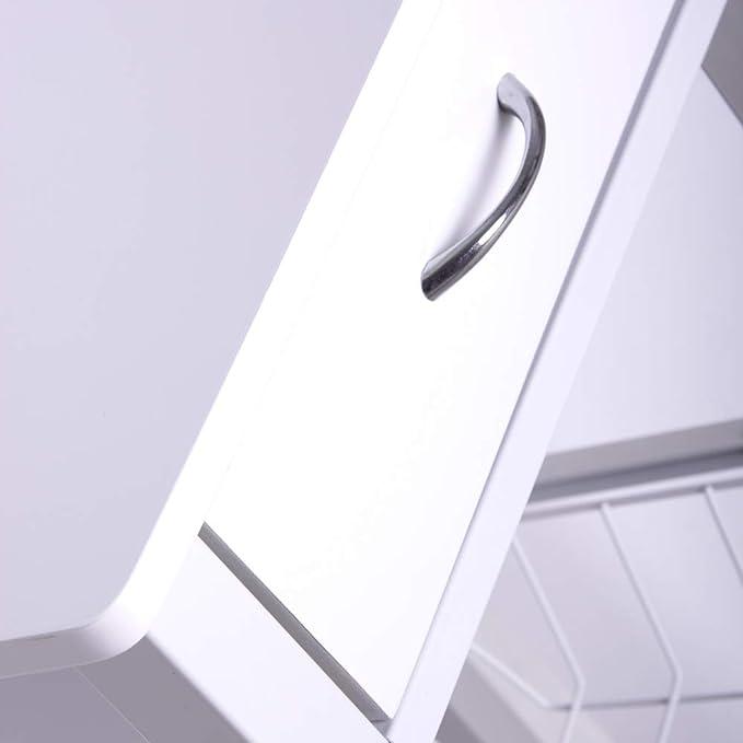 Lola Home Carro verdulero Moderno Blanco de Metal para Cocina Basic, 76x36x81 cm