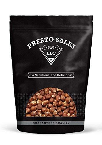 Filberts / Hazelnuts, JUMBO OREGON Raw Shelled (5 lbs.) by Presto Sales LLC
