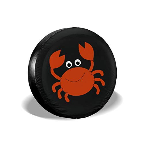 Love Taste Crab Spare Tire Cover Polyester Waterproof Dust-Proof Universal Spare Wheel Tire Cover Fit for Jeep,Trailer, RV, SUV and Many Vehicle DIY
