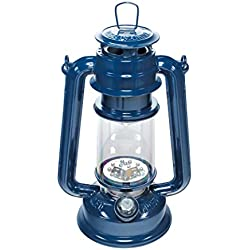 SE FL805-15BL 15-LED Blue Hurricane Lantern with Dimmer Switch
