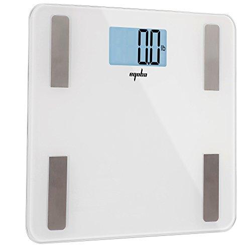 Eqoba Digital Bluetooth Smart Scale & Body Fat Monitor - 8 Precision Body Composition Measurements - Body Fat, BMI & More