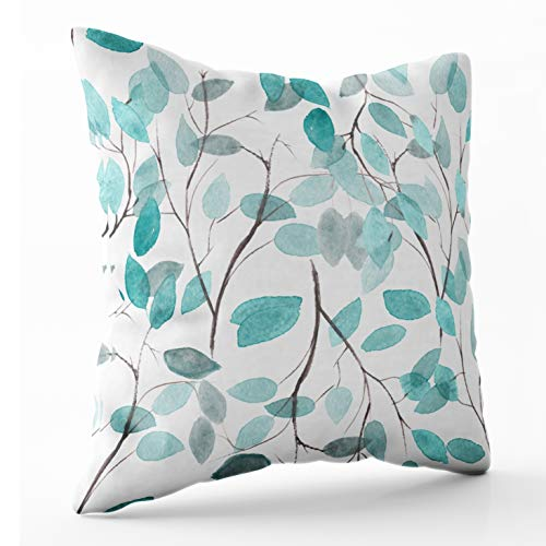 Shorping Zippered Pillow Covers Pillowcases 18X18 Inch Watercolor Floral Wallpaper Pattern Background Decorative Throw Pillow Cover,Pillow Cases Cushion Cover for Home Sofa Bedding