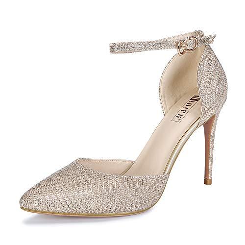 In4 Ankle Strap Glitter Women's D'orsay Heel Idifu Bridal High Stiletto Gold Alice Pump qA0xd75