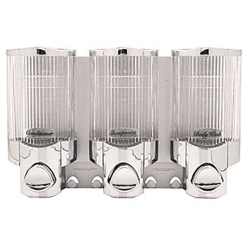 CRL Chrome Wall Mounted Triple Dispenser - 78344