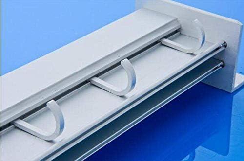 MYPNB Messerblocks Küchen Racks Wandbehang Küchenzubehör Einhängegestell Küchenmesser Rack-Raum-Aluminiumlagerschneidebrett 3-Messer-Insert Aktivität zweireihig 6 Hakenleiste