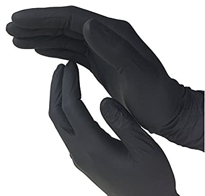 Dealmed Brand Nitrile Medical Exam Gloves, Disposable, Latex Free, Black, 100 Count, X-Large