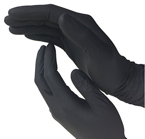 e Medical Exam Gloves, Disposable, Latex Free, Black, 100 Count, Size Small (Black Neoprene Gloves)