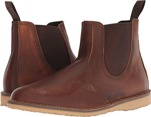 Chelsea Wing - Red Wing Heritage Men's Weekender Chelsea Copper Rough & Tough Leather 9 D US