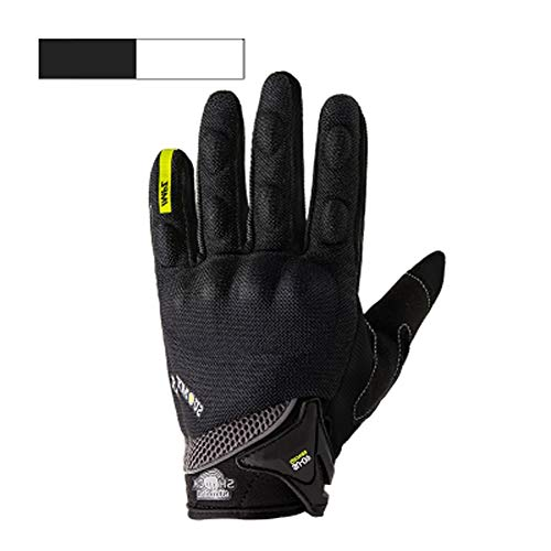 - Full Finger Motorcycle Gloves   Motocross Anti-Skid Slip Breathable Cycling Racing Locomotive Touchscreen Outdoor Gloves Male Summer Knight Equipment (Color : Black, Size : L)