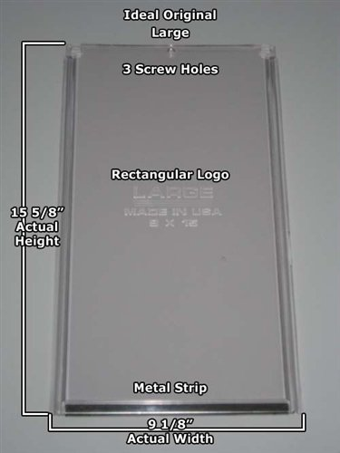 Ideal Pet Old Style 9 in. x 15 in. Large Vinyl Replacement Flap For Plastic Frame ()