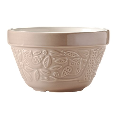Mason Cash In the Forest Steam Bowl, Durable Stoneware Pudding Basin with Intricate Embossed Owl Design, 30-Fluid Ounces, 6-1/4