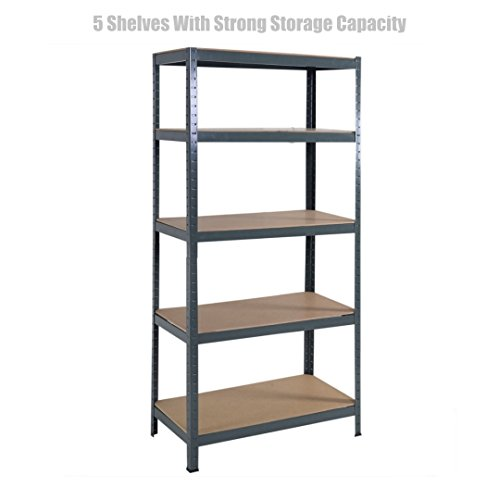 Officemax Plastic Paper (5 Level Heavy Duty Shelf School Office Home Garage Steel Metal Storage Rack Space-Saving Design Adjustable Height Shelves - 72