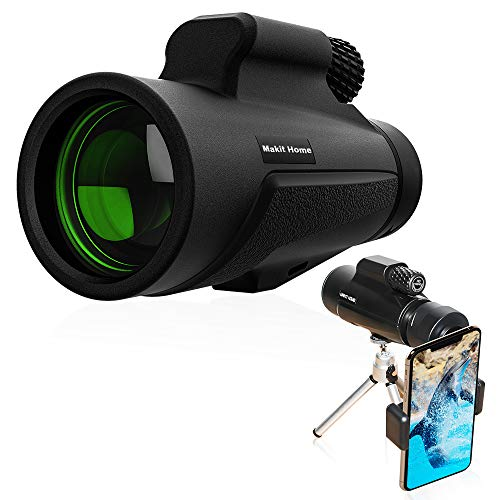Monocular Telescope,10x42 High Power Telescope,Dual Focus Monocular Scopes - Waterproof, Low Light Night Vision, BAK4 Prism Lens with Phone Clip Tripod for Outdoor Bird Watching Hunting Hiking