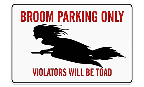 CJ Artisans 12x8 Broom Parking Only Aluminum Sign