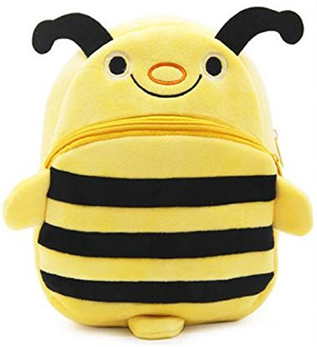 Houzini New Cute Plush Bumble Bee Mini Backpack for Students Ages 3-5 Years Old, Generic