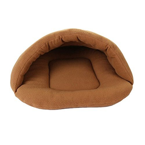 UEETEK Dog Cave Bed Small,Cute Puppy Slipper Shape Bed Cat Dog Cave Nest Pet House Soft Warm Cushion Tunnel for Pets Size S,15 x 11 x 3.9inch