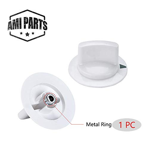 dryer knob Timer Control Knob WE1M652 with Reinforced Metal Ring Replacement Part for General Electric GE Dryer Part Replaces AP3995164 PS1482196 ()