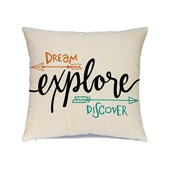 Ueerdand Set of 4 Adventure Arrows Throw Pillow Covers Cushion Case Outdoor Pillow Case Decor for Car Sofa Bed Couch 18… - Suitable Occasions: Can be applied for home decoration at festival, also suitable for special parties and events High quality: Breathable linen fabric and handmade make it comfortable, durable, beautiful. Machine washable and the hands washable. The pattern does not fade. Hight quality hidden zipper to meet an elegant look What You Get: Brand new 4 PCS 18 x 18 inch Pillow Cover, No Insert and Filler. Our pillow cover fits 18x18 inch insert or smaller insert. Pattern is only on the front and no printing on the back - patio, outdoor-throw-pillows, outdoor-decor - 41RBwV z92L. SS570  -