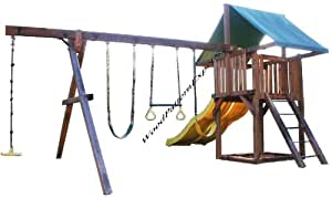 Play fort swing set paper plans so easy for How to make a simple wooden swing set