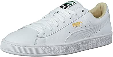 PUMA Men's Basket Classic Lfs Fashion Sneaker, White-White, 10 M US