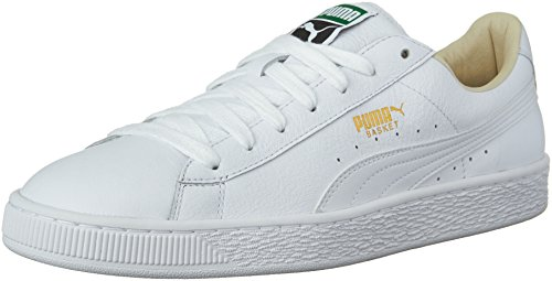 PUMA Men's Basket Classic LFS Fashion Sneaker White-White, 10 M US (Puma Men Sneaker Shoes)