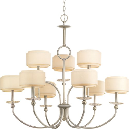 Progress Lighting P4464-134 Ashbury 9-Lt., 2-Tier Chandelier