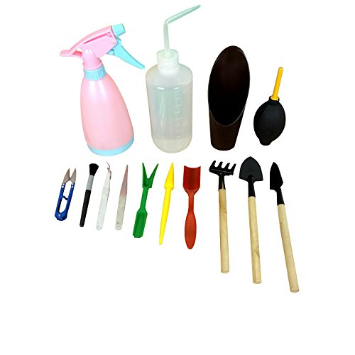 Set of 14 Mini Gardening Hand Tools Set for Succulent Tra...