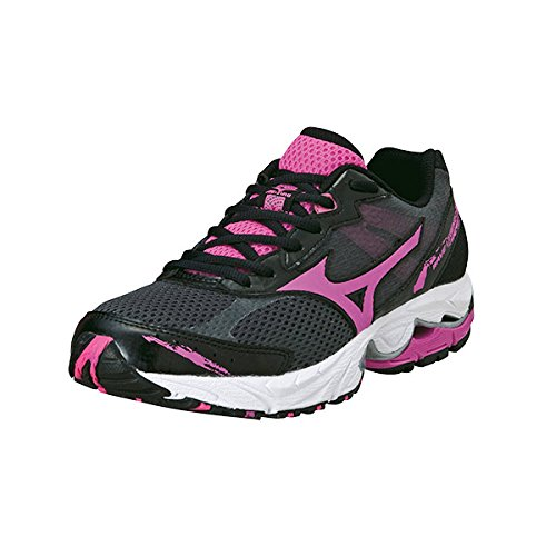 Mizuno Wave Legend 2 Road Running Shoes Black/Pink Womens UK 7.5