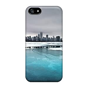 StaceyBudden Design High Quality Ice Lake City Covers Cases With Excellent Style For Iphone 5/5s