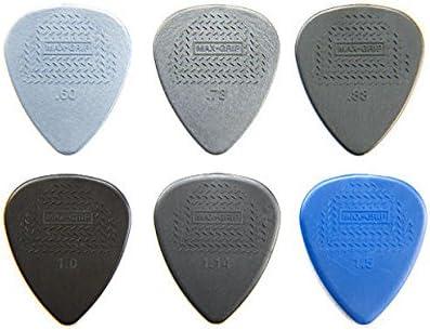 Dunlop 449P1.0 Nylon Max-Grip 1.0 mm Standard Guitar Picks 12 Pack